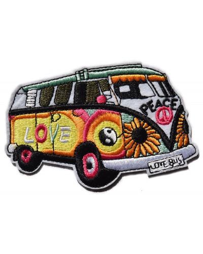 Nášivka Hippie Love Bus 11 cm x 7 cm