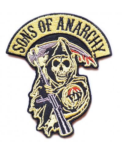Moto nášivka Sons of Anarchy reaper 10cm x 8cm