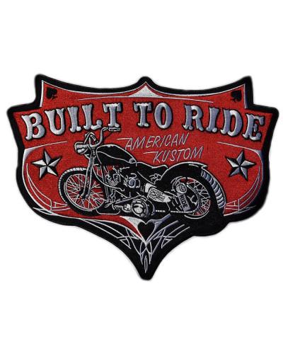 Moto nášivka BS Built to Ride XXL na chrbát