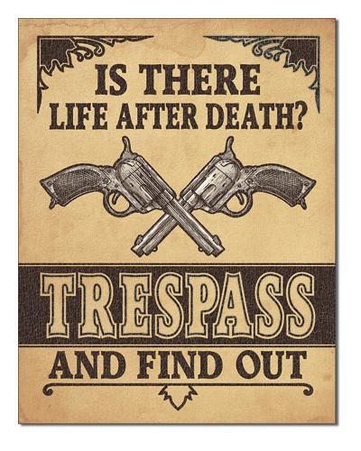 Plechová ceduľa Life After Death 40 cm x 32 cm