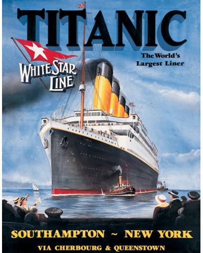 Plechová ceduľa Titanic White Star 32 cm x 40 cm