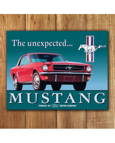 Plechová ceduľa Ford Mustang 32 cm x 40 cm p