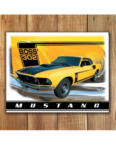 Plechová ceduľa Ford Mustang Boss 302