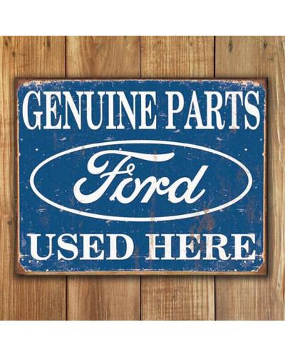 Plechová ceduľa Ford Parts Used Here 40 cm x 32 cm w