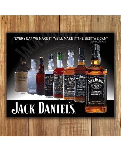 Plechová ceduľa Jack Daniels - Bottles 32cm x 40cm w