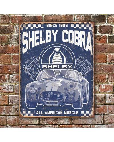 Plechová ceduľa Shelby - American Muscle 40 cm x 32 cm w