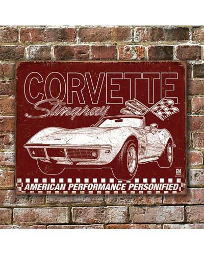 Plechová ceduľa Corvette - 69 Stingray 40 cm x 32 cm w