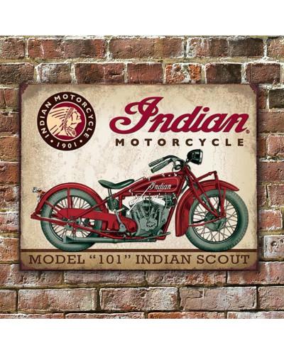 Plechová ceduľa Indian Scout 40 cm x 32 cm w