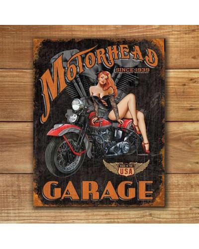 Plechová ceduľa Legends - Motorhead Garage 40 cm x 32 cm w