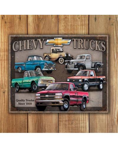 Plechová ceduľa Chevy Trucks Tribute 40 cm x 32 cm w