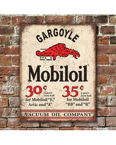 Plechová ceduľa Mobiloil Gargoyle 40 x 32 cm w