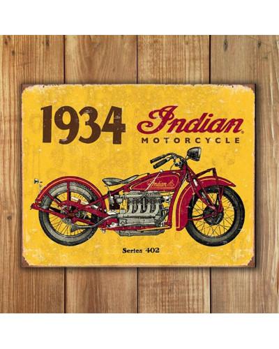 Plechová ceduľa 1934 Indian new 40 cm x 32 cm w