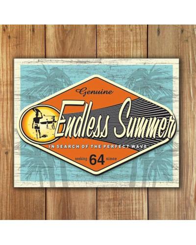 Plechová ceduľa Endless Summer - Genuine 40 cm x 32 cm w