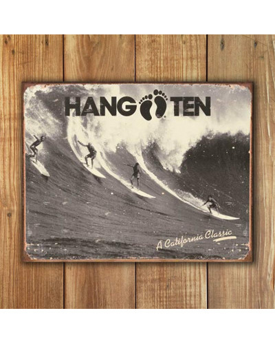 Plechová ceduľa Hang Ten - California Classic 40 cm x 32 cm w