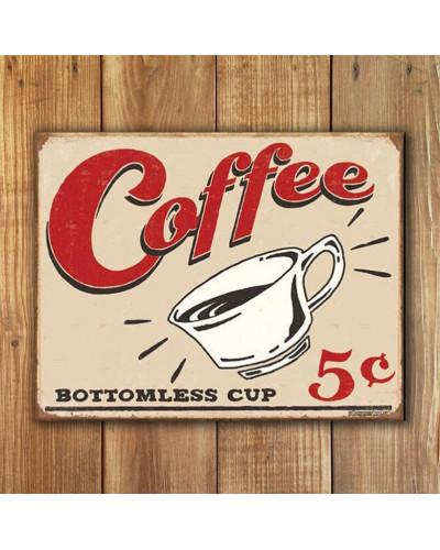Plechová ceduľa Schonberg - Coffee 5 centov 40 cm x 32 cm w