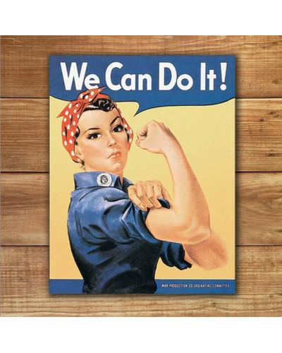 Plechová ceduľa Rosie the Rivetor 40 cm x 32 cm w