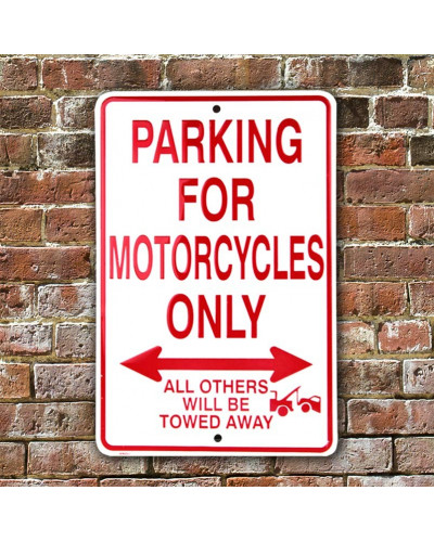 Plechová ceduľa Motorcycles Parking Only 20 cm x 30 cm w