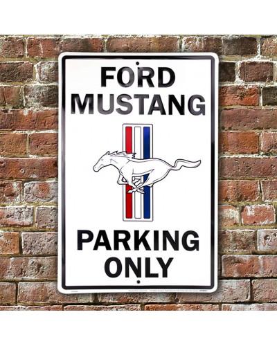 Plechová ceduľa Ford Mustang Parking 30cm x 45 cm w
