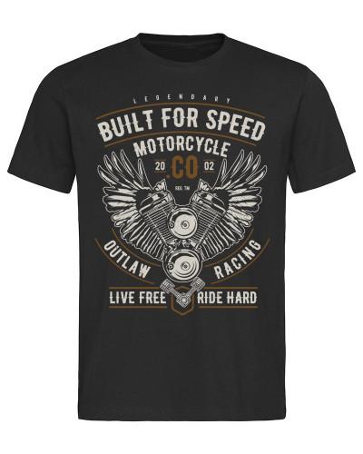 Tričko Built For Speed Motorcycle