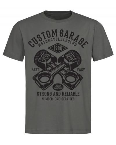 Pánske tričko Custom Garage sivé