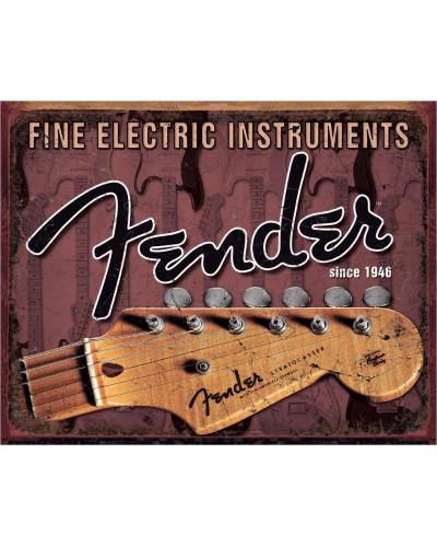 Plechová ceduľa Fender - Headstock 40 cm x 32 cm