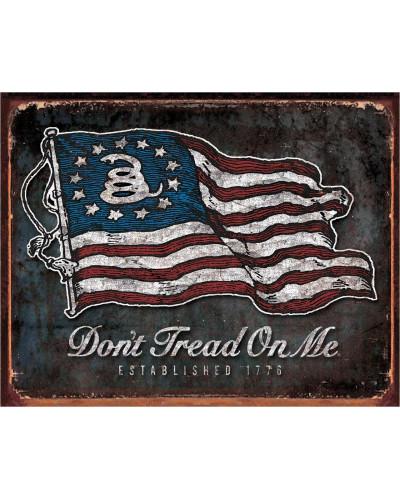 Plechová ceduľa DTOM - Vintage Flag 40 cm x 32 cm
