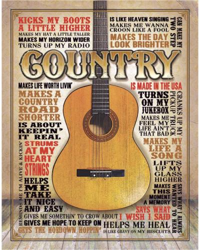 Plechová ceduľa Country - Made in America 40 cm x 32 cm