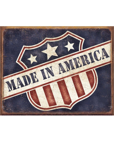 Plechová ceduľa Made in America 40 cm x 32 cm