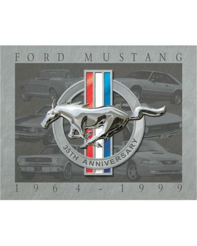 Plechová ceduľa Mustang 35th Anniversary 32cm x 40cm