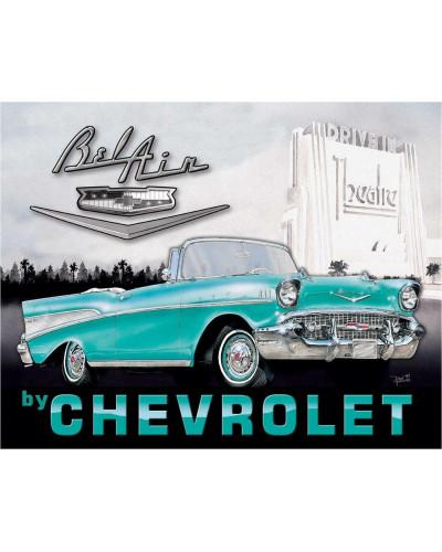 Plechová ceduľa 1957 Chevy Bel Air 32cm x 40cm