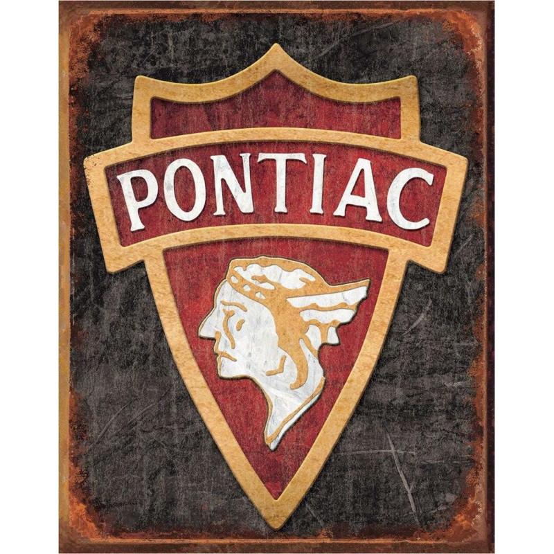 Plechová ceduľa 1930 Pontiac Logo 40 cm x 32 cm