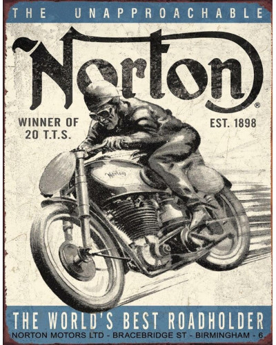 Plechová ceduľa Norton - Winner 40 cm x 32 cm