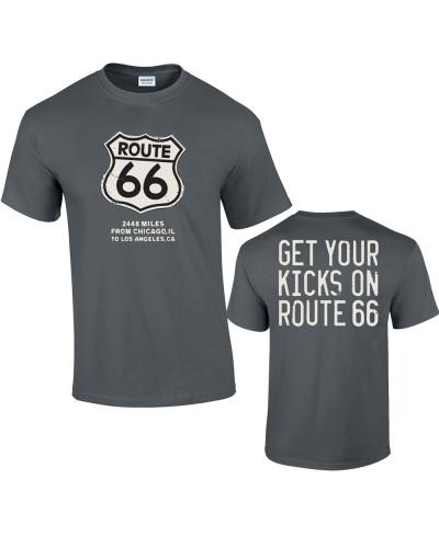 Tričko ROUTE 66 Get Your Kicks šedej