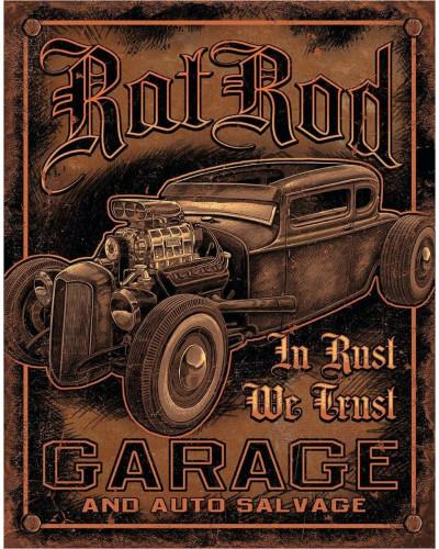 Plechová ceduľa Rat Rod Garage 32 cm x 40 cm