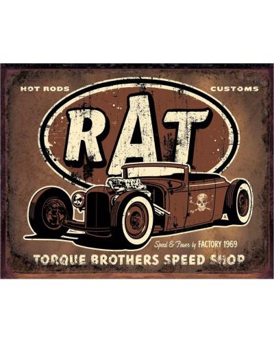 Plechová ceduľa Torque - Rat Rod 40 cm x 32 cm