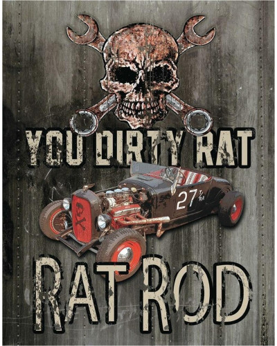 Plechová ceduľa Legends - Dirty Rat 40 cm x 32 cm