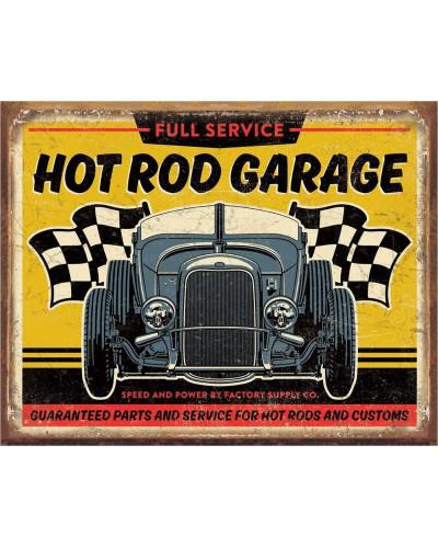 Plechová ceduľa Hot Rod Garage - 32 Rod 40 cm x 32 cm