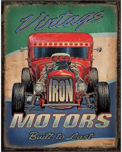 Plechová ceduľa Vintage Motors 40 cm x 32 cm