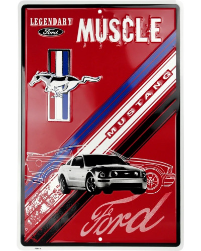 Plechová ceduľa Ford Mustang Legendary Muscle 30 cm x 45 cm