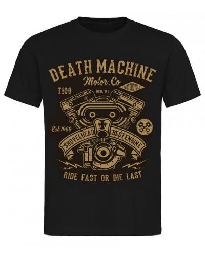 Pánske tričko Death Machine Shovelhead čierne