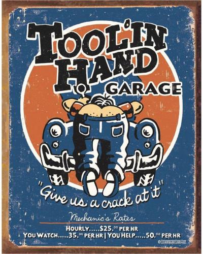 Plechová cedule Moore - toolin Hand 40 cm x 32 cm